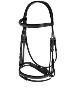 High quality fine design leather padded bridle with stitching design, adjustable and comes with matching reins