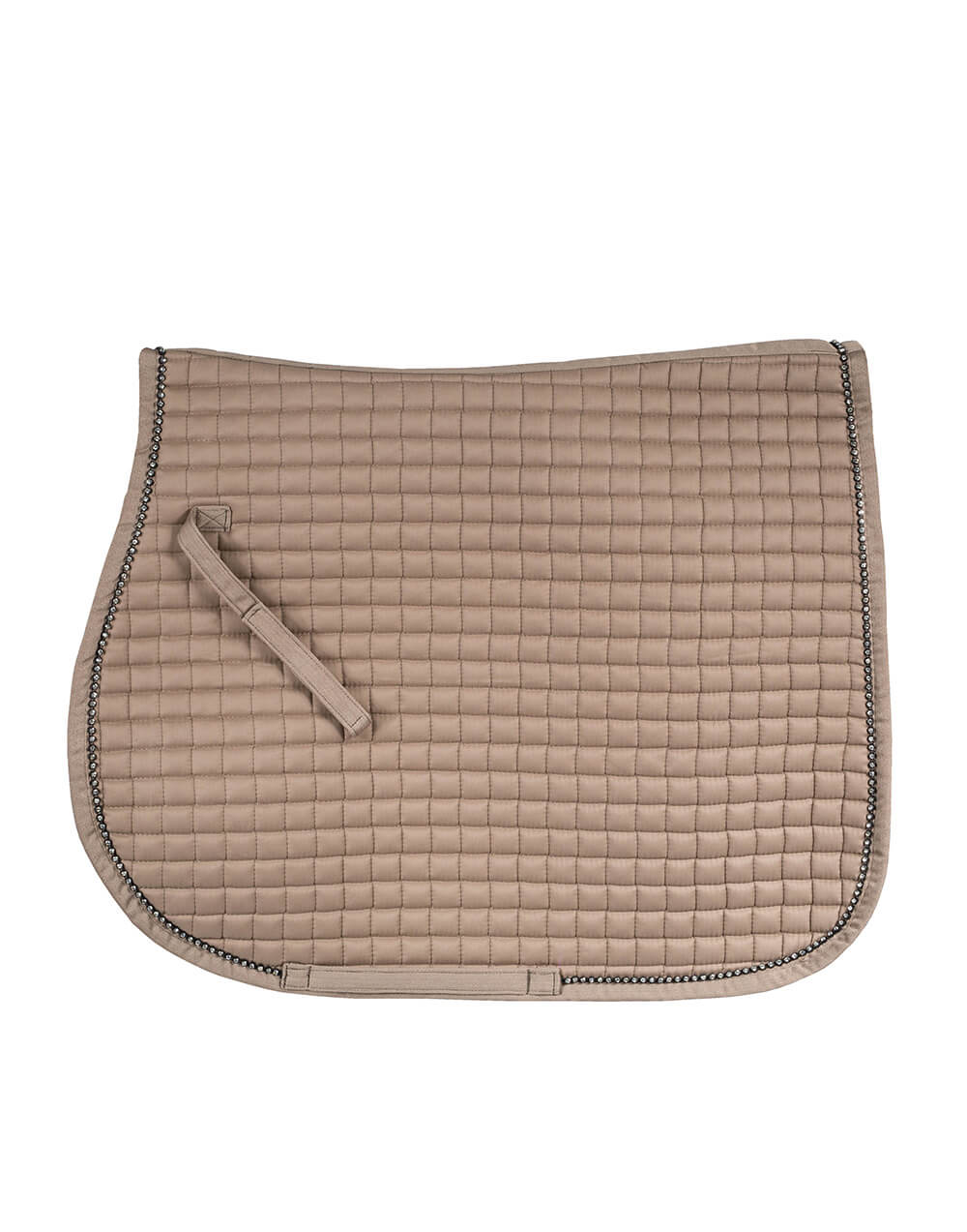 High quality small quilted allround horse riding numnah with crystal trim, quick dry lining and well shaped fit