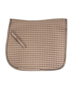 High quality small quilted dressage horse riding numnah with crystal trim, quick dry lining and well shaped fit