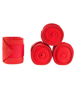 High quality exercise bandages with polar fleece and elastic combined bandage and strong velcro closure for support