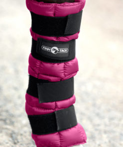 Superior quality gel filled blocks in these cooling wraps with strong elasticised velcro straps for a secure fit