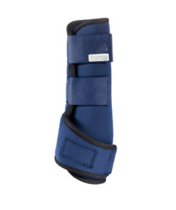 Neoprene horse brushing boots with strong velcro straps to secure a medicine boot like fit for ultimate protection