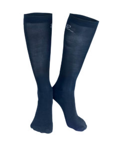 Elegant, classy and high quality stretchy thin stocking like horse riding knee high socks with logo