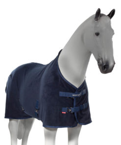 Superior quality anti pill fleece horse blanket, adjustable at chest and belly