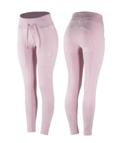 Cotton jogger horse riding tights with deep pockets, wide waistband and strap to tighten