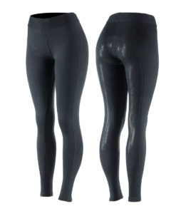 Light sporty fullseat horse riding tights with broad waistband