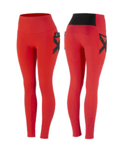 High waist sporty fullseat tights with side pockets