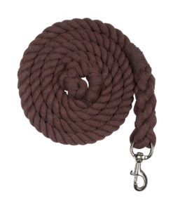Horze strong twisted cotton lead rope with classic strong swivel snap
