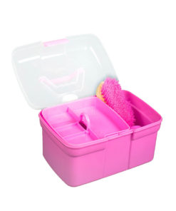 High quality horse grooming brush set in a strong plastic grooming box