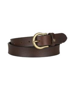 Sierra Narrow Genuine Wide Leather Belt with metal buckle
