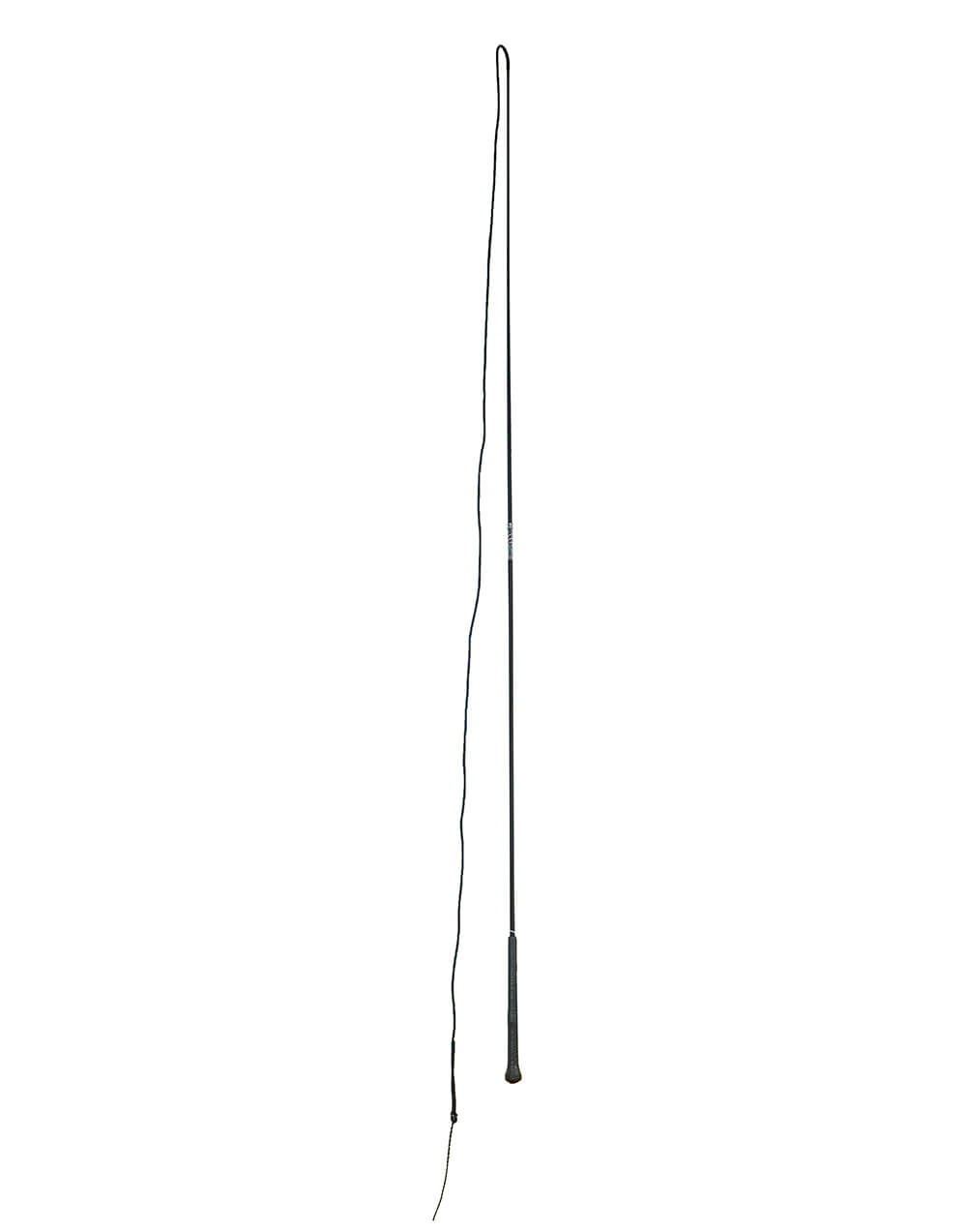 Black 180cm two part lunging whip
