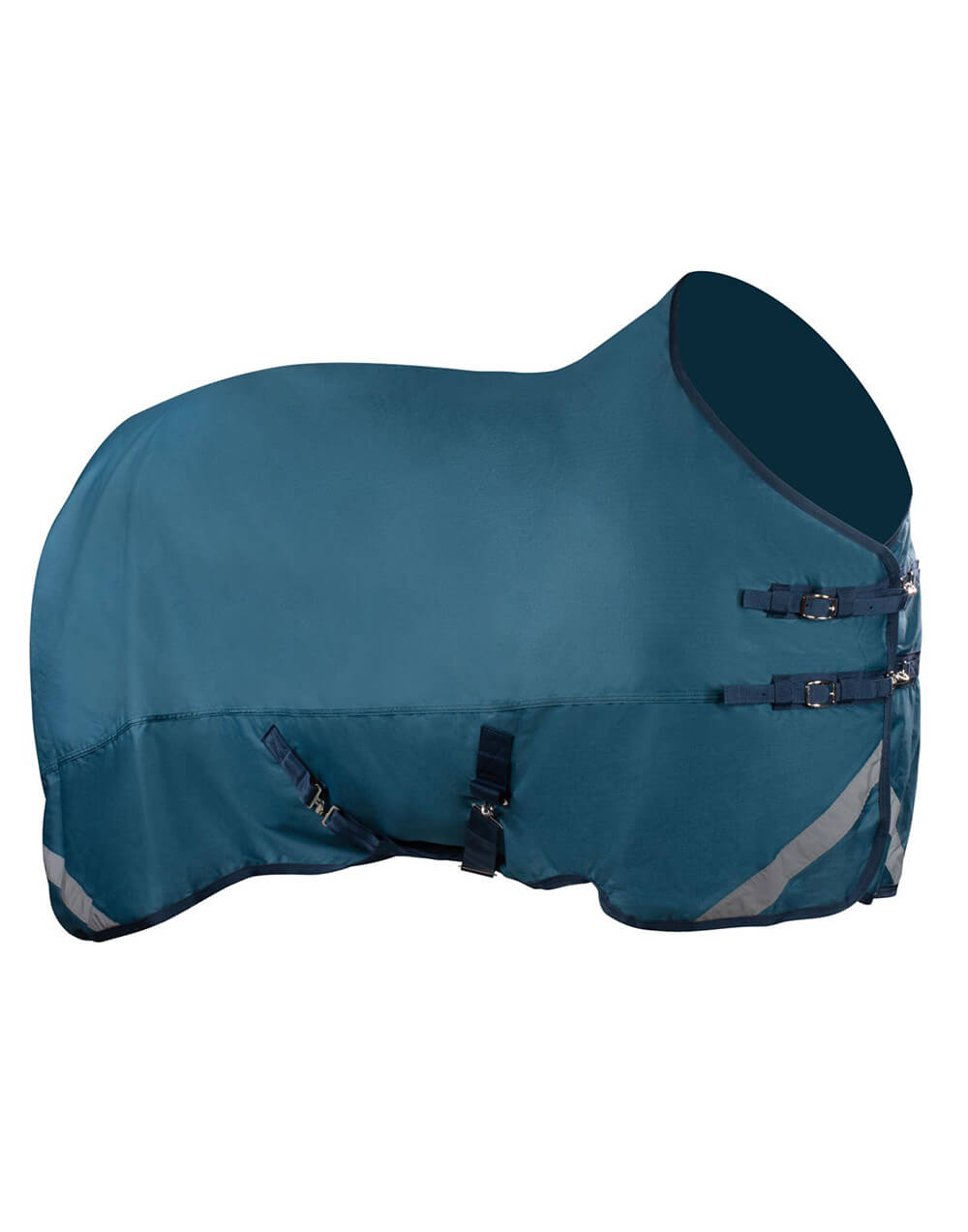 Lightweight waterproof and breathable turnout rug for horses in fun colours with reflective strips for visibility
